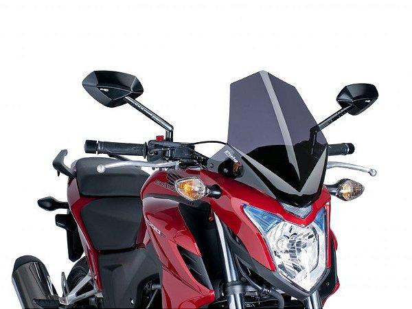 Bolha Naked Em Acrílico Fumê Escura Honda CB 500F