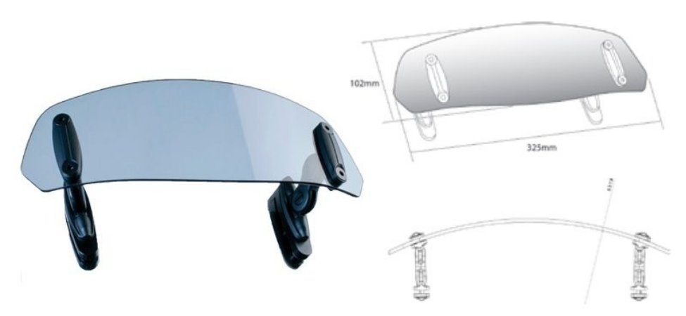 Defletor de Vento para Bolha Puig Honda VRF 1200X Crosstourer