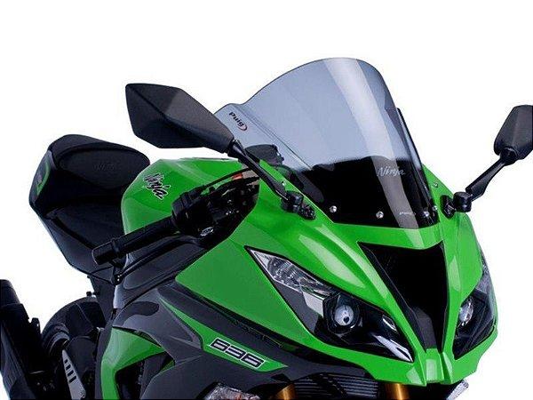 Bolha Racing Em Acrílico Fumê Clara Kawasaki ZX-6R Ninja 636 Puig