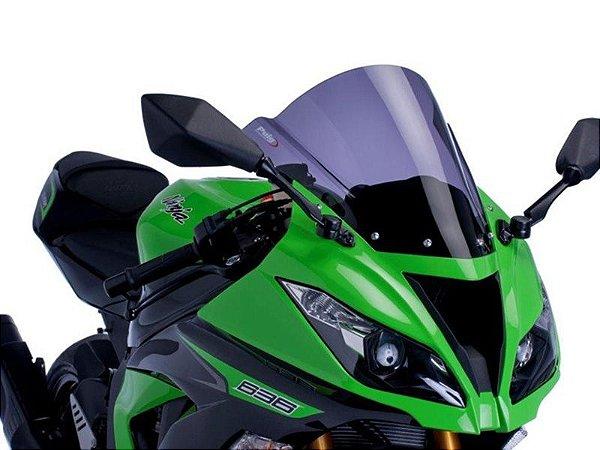Bolha Racing Em Acrílico Fumê Escura Kawasaki ZX-6R Ninja 636 Puig