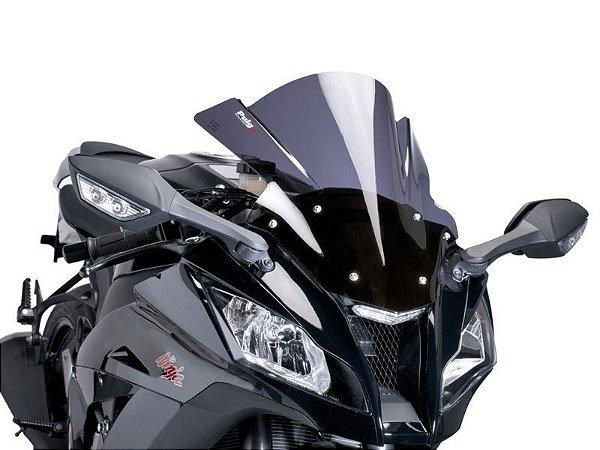 Bolha Racing Em Acrílico Fumê Escura Kawasaki ZX-10R Ninja Puig