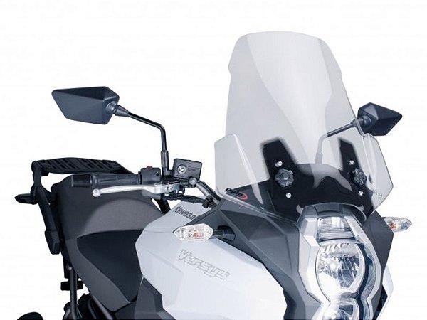 Bolha Touring Em Acrílico Transparente Kawasaki Versys 1000 Puig
