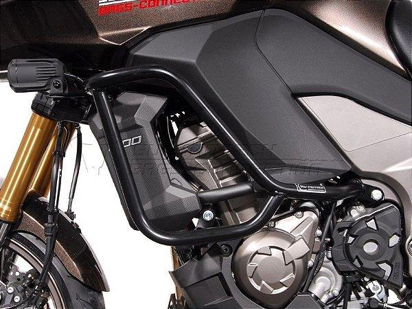 Protetor de Motor Lateral Preto Kawasaki Versys 1000