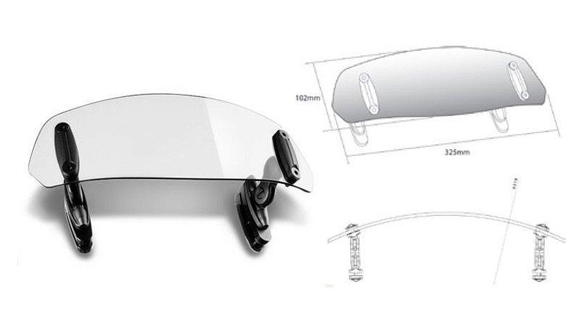Defletor de Vento para Bolha Fumê Clara Suzuki V-Strom 650 Puig
