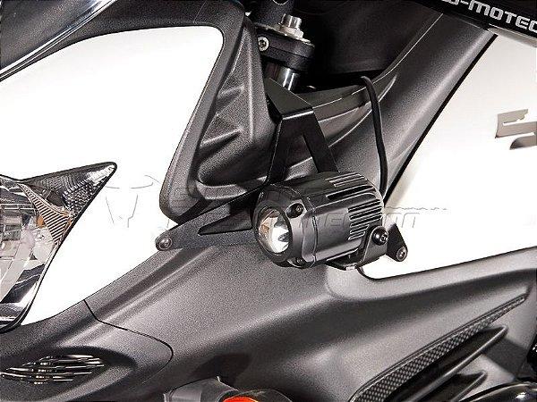 Kit de Fixação de Farol Auxiliar Preto SW-Motech Suzuki V-Strom 650