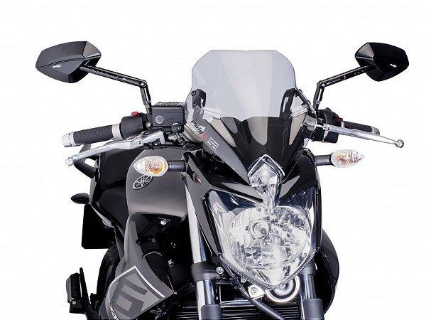 Bolha Naked Em Acrílico Fumê Clara Yamaha XJ6-N Puig 2010 - 2014