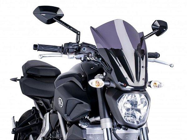 Bolha Naked Touring Em Acrílico Fumê Escura Yamaha MT-07 Puig