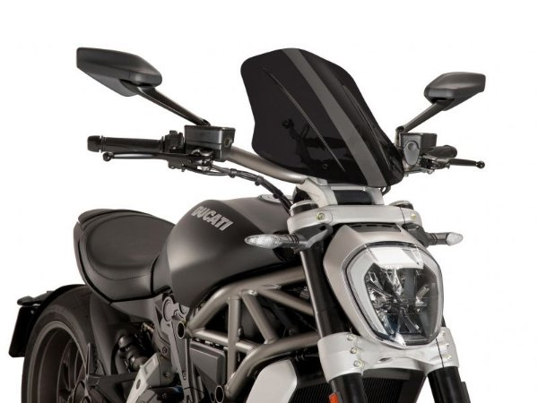 Bolha Naked Touring Fumê Escura Ducati X-Diavel Puig