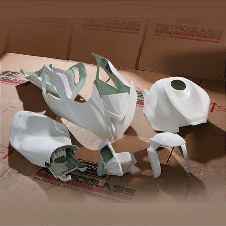 Kit de Carenagem em Fibra para Corrida - Kawasaki ZX-6R 636