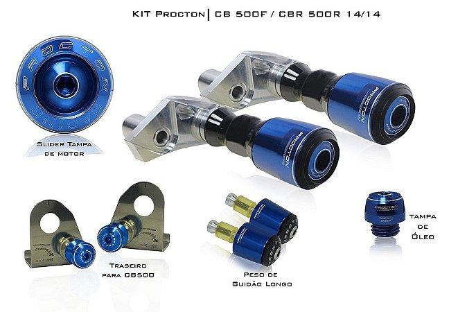 Kit de Slider Procton - Honda CB 500F c/ slider traseiro