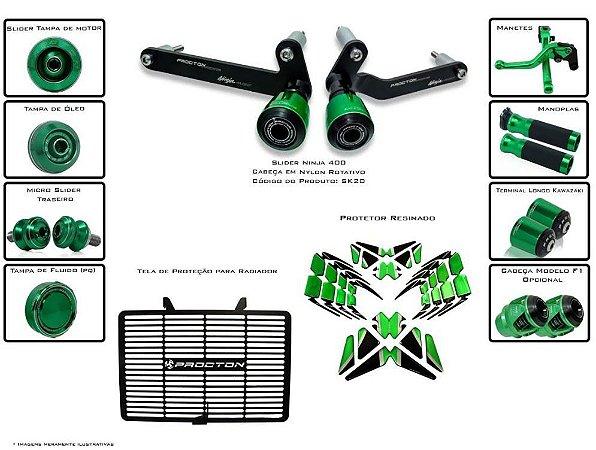 Kit de Slider Procton Racing Kawasaki Ninja 400