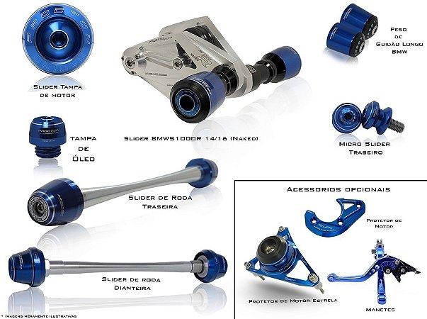 Kit de Slider Procton - BMW S1000R Naked (7 peças)
