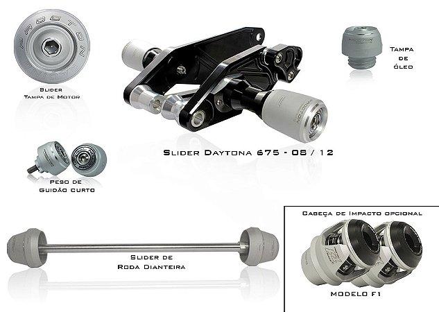 Kit de Slider Procton - Triumph Daytona 675i 2007 - 2012