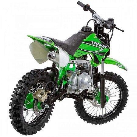 Mini Moto Trilha Cross 100cc Protork Verde TR100F
