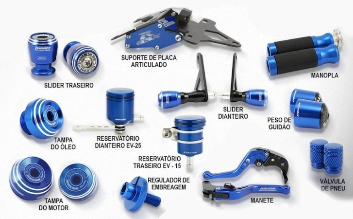 Kit de Slider Evolution Suzuki GSX-R 750