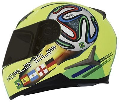 Capacete Nasa Sh-821 World Cup Amarelo