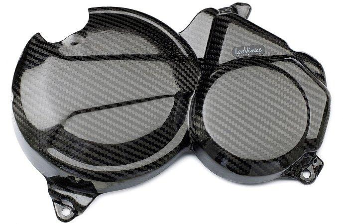 Kit de Protetor de Motor em Carbono Leovince Embreagem e Bomba D'água Honda CB 600F Hornet 2007 - 2014