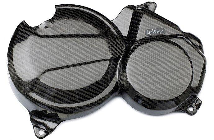 Kit de Protetor de Motor em Carbono Leovince Embreagem e Bomba D'água Honda CBR 600F 2011 - 2014