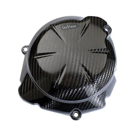 Protetor de Motor em Carbono Leovince Alternador Kawasaki ER-6N 2012 - 2015