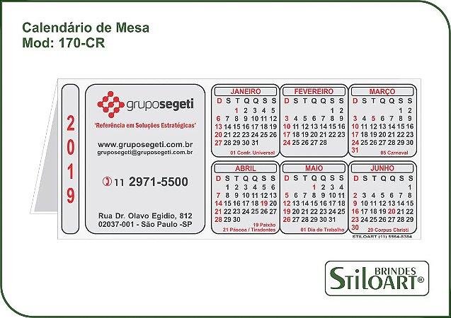 Calendário de Mesa 170-CR