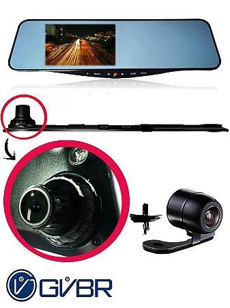 """Retrovisor Automotivo Dual Câmera GVBR 5.0""""    (PROMOÇÃO!)"""