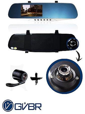 Retrovisor Automotivo Dual Câmera GVBR 4.3'' (PROMOÇÃO!)