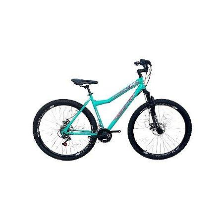 Bicicleta SOUTH 29 Verde Turquesa Disco Quadro 18 aço
