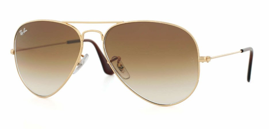 4c0df097b1 Ray Ban Aviator / Aviador Marrom Degradê 3025 - Magu Outlet Importados