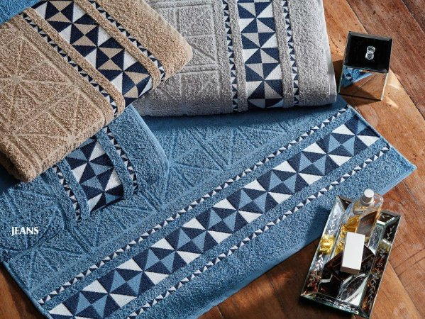 Toalha de Banho Jacquard Eros Jeans 70x135 - Dianneli
