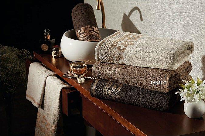 Toalha de Rosto Jacquard Encantos Tabaco 50x70 - Dianneli