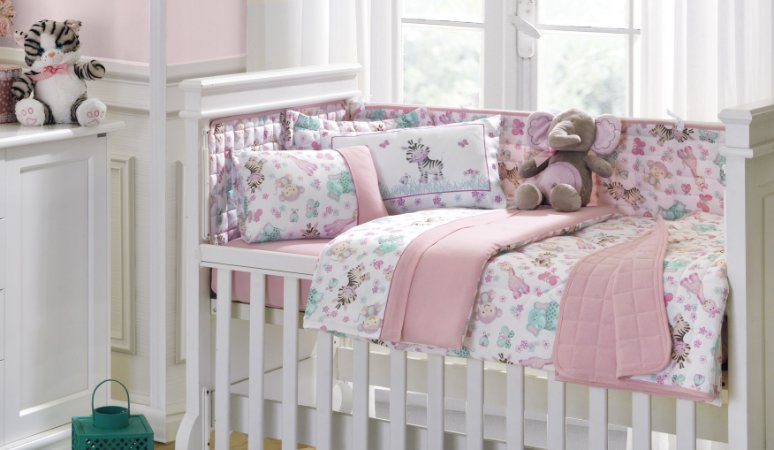 Kit Infantil Berço 10 Peças Baby Malha 30/1 Zoo Girl - Lynel