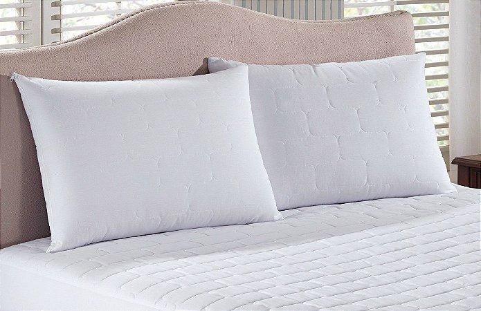 cb46f5648 Protetor de Travesseiro Impermeável Tech Life 50x70 Matelassado Branco -  Lynel