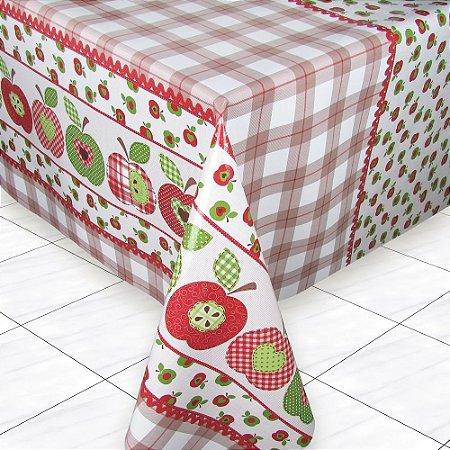 Toalha de Mesa Térmica 8 Lugares 140x250 Apples Vermelha - Izaltex