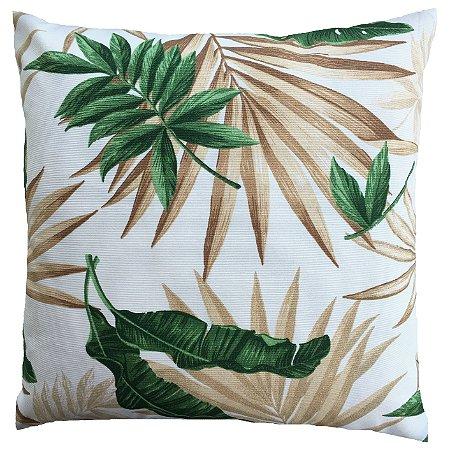 Capa de Almofada Vazia 40x40 Belize Folhas Verde - Izaltex