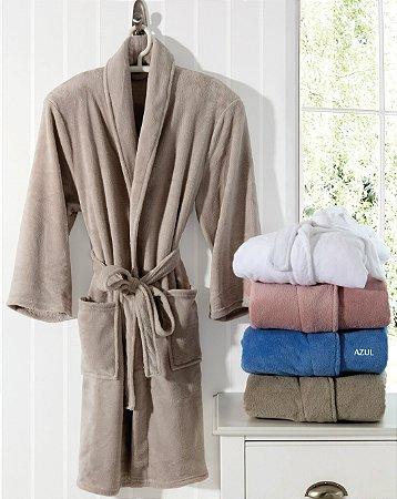 Roupão de Banho M Daily Spa Azul - Rozac