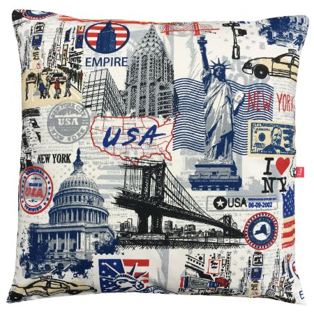 Capa de Almofada Vazia 45x45 Perriê Love USA - Tularte