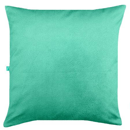 Capa de Almofada Vazia 45x45 Veludo Animale Verde Tiffany - Tularte