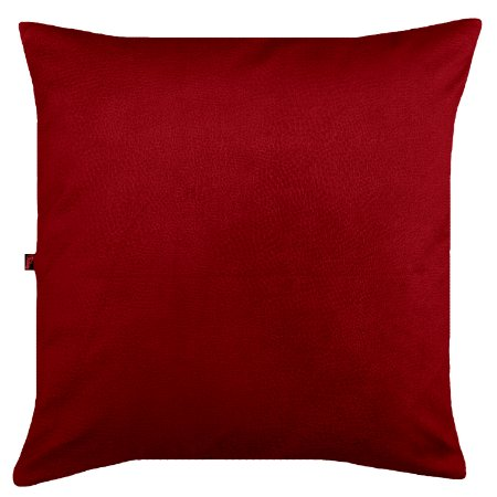 Capa de Almofada Vazia 45x45 Veludo Animale Vermelha - Tularte