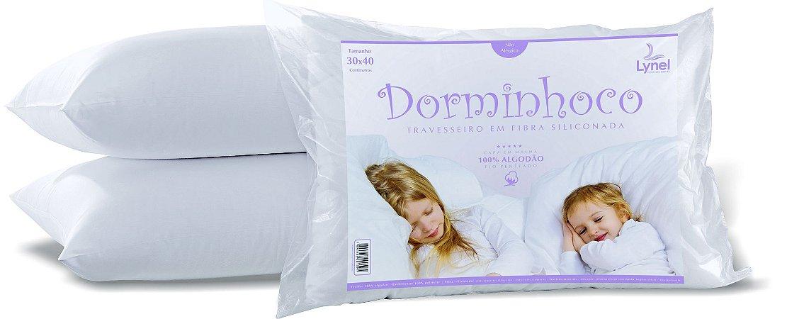 Travesseiro Bebê Dorminhoco 30x40 Branco - Lynel