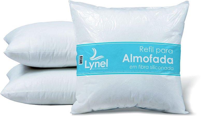 Refil de Almofada 45x45 250gr Fibra Siliconada Branco - Lynel