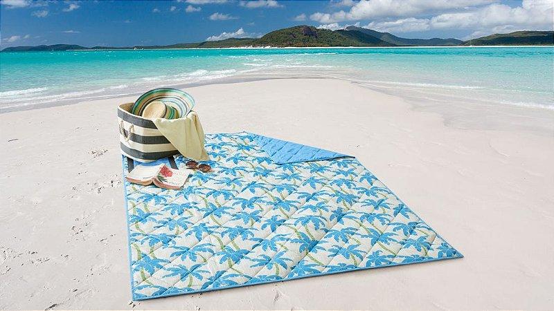 Esteira de Praia e Piquenique Dobrável Dupla Face Palmeira - Corttex