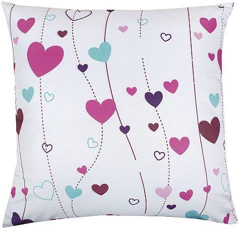 Almofada Cheia Estampada 45x45 Love A - Lynel