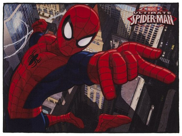 Tapete Infantil Marvel Antiderrapante 80x110 Homem Aranha - Corttex
