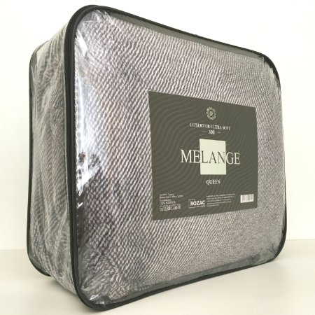 Cobertor Ultra Soft Melange Queen Cinza - Rozac