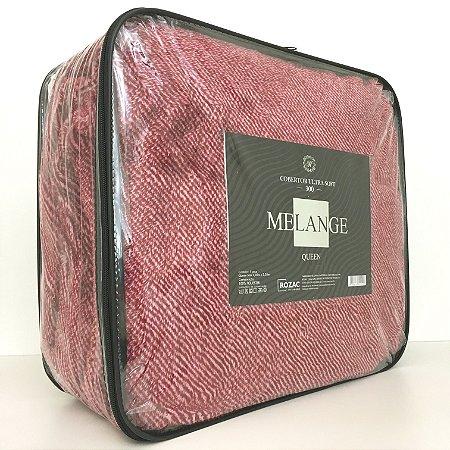 Cobertor Ultra Soft Melange Queen Vermelho - Rozac