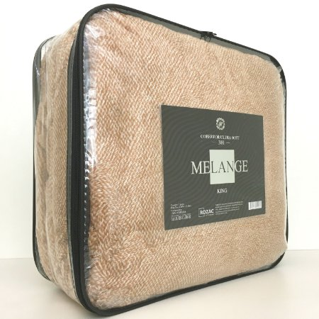 Cobertor Ultra Soft Melange King Mostarda - Rozac