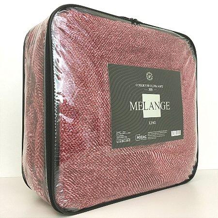 Cobertor Ultra Soft Melange King Vermelho - Rozac