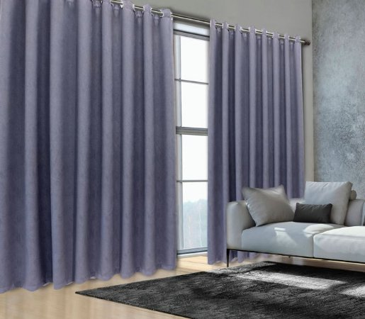 Cortina Blackout de Tecido 99% Elegance 400x230 Grafite - Izaltex