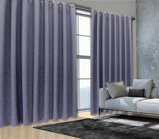 Cortina Blackout de Tecido 99% Elegance 260x180 Grafite - Izaltex
