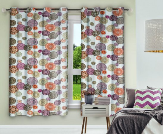Cortina Blackout Eclipse PVC Estampado 280x180 Mandalas - Izaltex